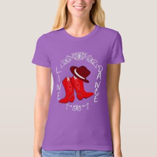 Cowgirl Boots Cute Line Dancing Theme Graphic T-Shirt