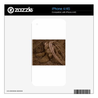Cowgirl Boots & Lariat iPhone 4S Decal
