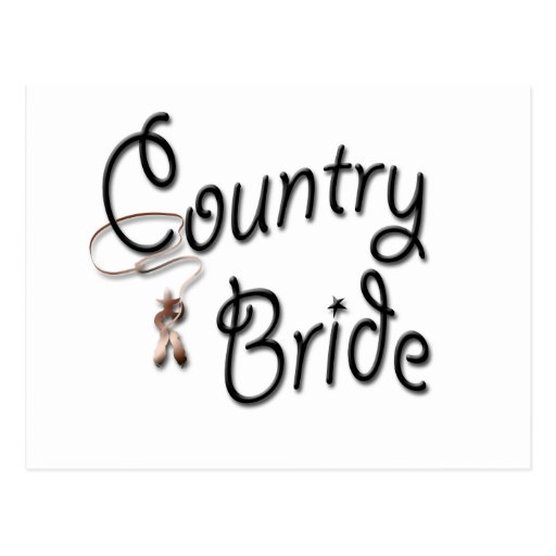 Cowgirl Bride Favors Postcards