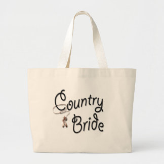 Cowgirl Bride Gifts and Favors Large Tote Bag