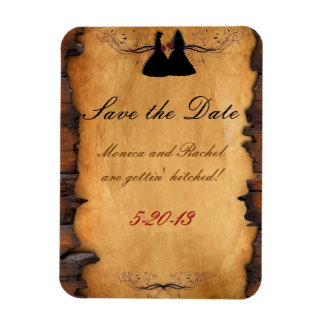 Cowgirl Brides Custom Wedding Save-the-Date Magnet