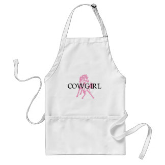 Cowgirl Bronc Horse (pink horse version) Adult Apron