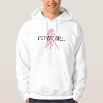 Cowgirl Bronc Horse (pink horse version) Hoodie