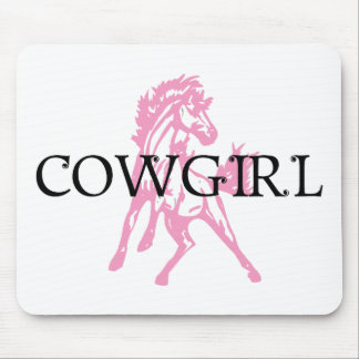 Cowgirl Bronc Horse (pink horse version) Mouse Pad