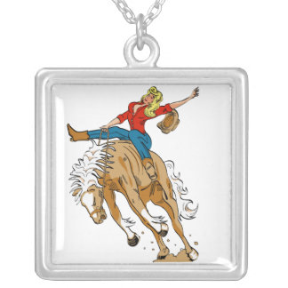 Cowgirl Bronc Rider Necklace