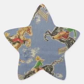 Cowgirl Bronc Rider Star Sticker