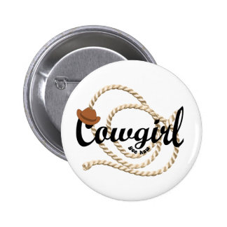 Cowgirl Button