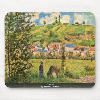 Cowgirl By Pissarro Camille Mousepads