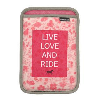 Cowgirl Calico Horse Ride iPad Mini Sleeve