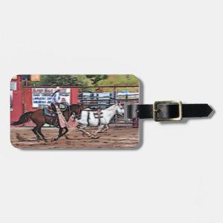 Cowgirl Cartoon Bag Tag