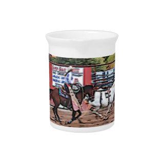 Cowgirl Cartoon Beverage Pitcher