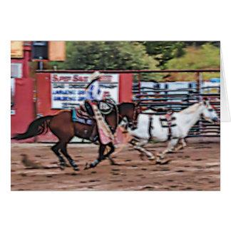Cowgirl Cartoon Card