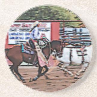 Cowgirl Cartoon Drink Coaster