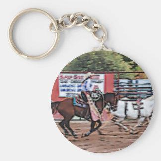Cowgirl Cartoon Keychain