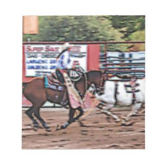 Cowgirl Cartoon Notepad