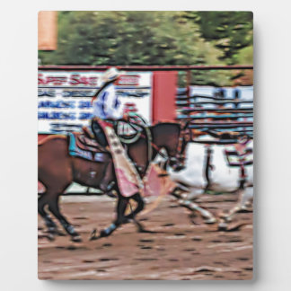 Cowgirl Cartoon Plaque