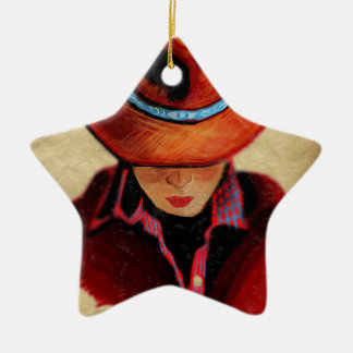 Cowgirl Ceramic Ornament