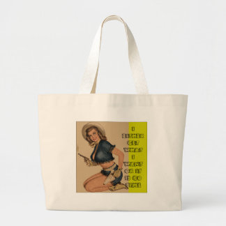 Cowgirl Chic It's Go Time Jumbo Tote Bag