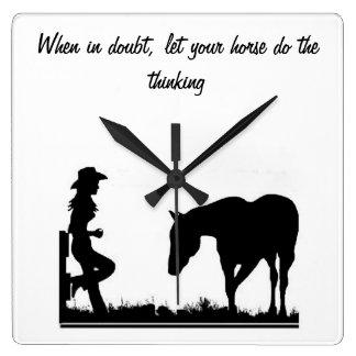 Cowgirl clock