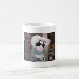 cowgirl cow, coffee mug