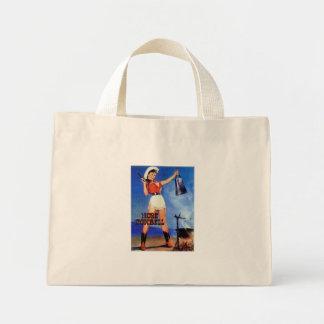 cowgirl cowbell mini tote bag