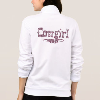 Cowgirl Design Front and Back Print Jacket