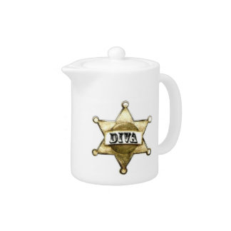 """Cowgirl Diva"" Tea Pot"