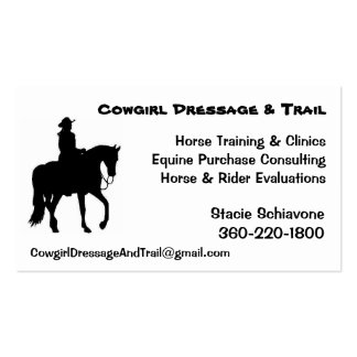 Cowgirl Dressage Business Cards