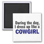 Cowgirl During The Day Fridge Magnets