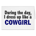 Cowgirl During The Day Greeting Cards