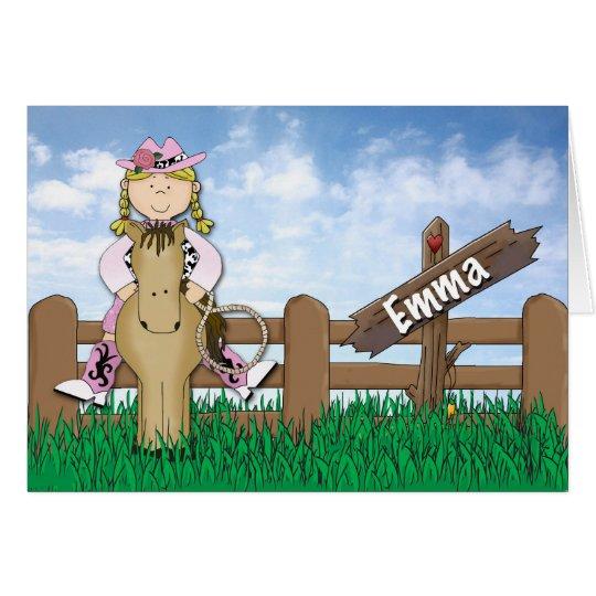 Cowgirl Emma Custom Order Card