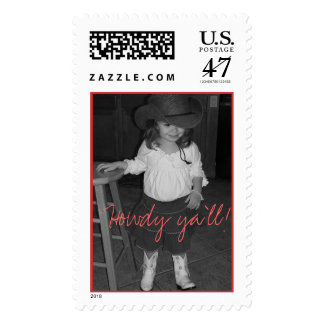 Cowgirl Emma Postage Stamp