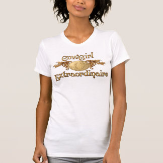 Cowgirl Extraordinaire Gold Buckle western design T-Shirt
