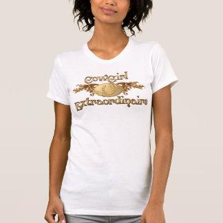 Cowgirl Extraordinaire Gold Buckle western design Tee Shirt