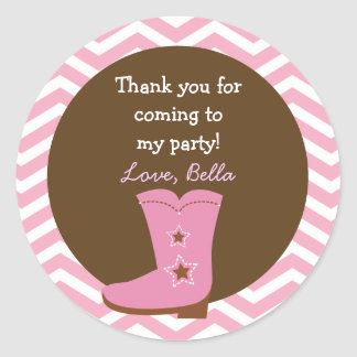Cowgirl Favor Stickers