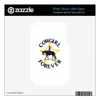 Cowgirl Forever iPod Touch 4G Skin