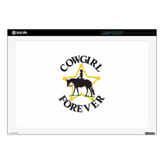 "Cowgirl Forever Skins For 17"" Laptops"