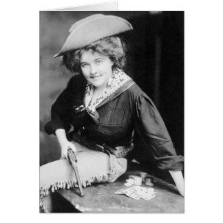 Cowgirl Gambler: 1909 Card