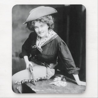 Cowgirl Gambler: 1909 Mouse Pad