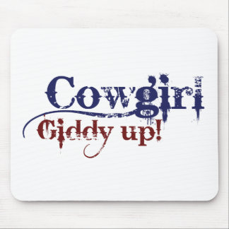 Cowgirl Gitty Up Mouse Pad