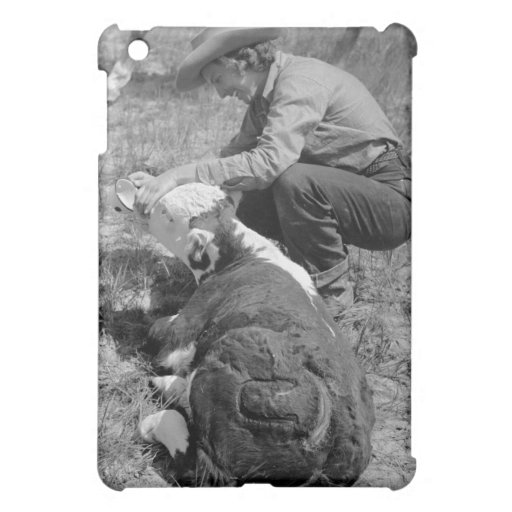 Cowgirl Giving TLC, 1930s Cover For The iPad Mini