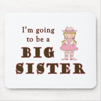 cowgirl going to be big sister mousepad