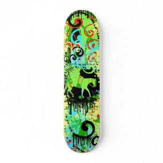 Cowgirl Grunge - Customized skateboard