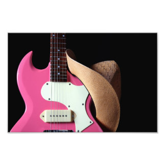 Cowgirl Guitar and Hat Photo Print