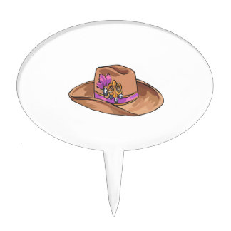 COWGIRL HAT CAKE PICKS