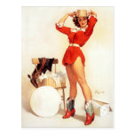 Cowgirl Hat Pin Up Post Cards