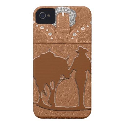 """Cowgirl & Horse"" Western Blackberry Case"