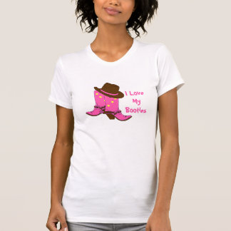 Cowgirl I Love My Booties Pink Western Boots Shirt