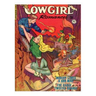 Cowgirl in a Green Dress Postcard