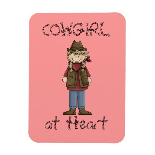 Cowgirl in Braids Premium Flexi Magnet
